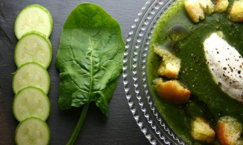 Vellutata di spinaci e zucchine