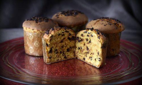 Panettoncini al kamut integrale e cioccolato
